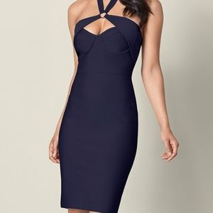 Venus Slimming Bodycon Dress, Dark Blue, Size M